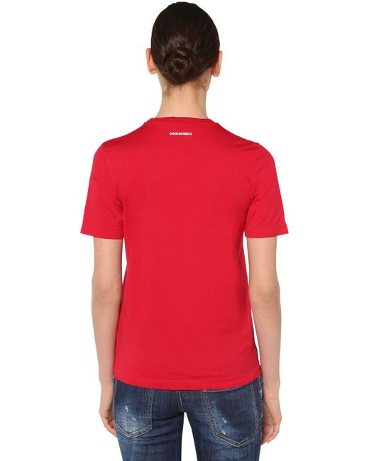 DSquared² Renny Fit コットンジャージーtシャツ Red