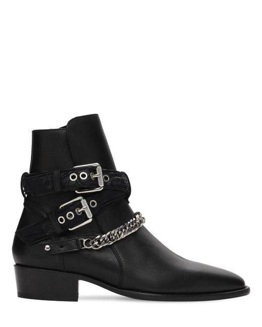 """Кожаные Ботинки """"bandana"""" С Пряжкой Amiri для него, цвет: Black"""