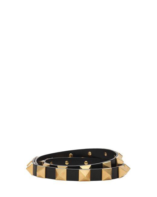 Кожаный Ремень Rockstud 1.8cm Valentino Garavani, цвет: Black