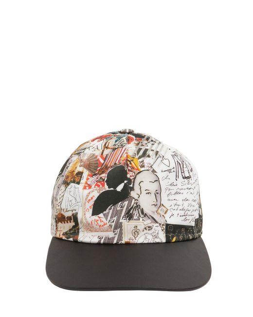 メンズ Fendi Karl ナイロン野球帽 Multicolor