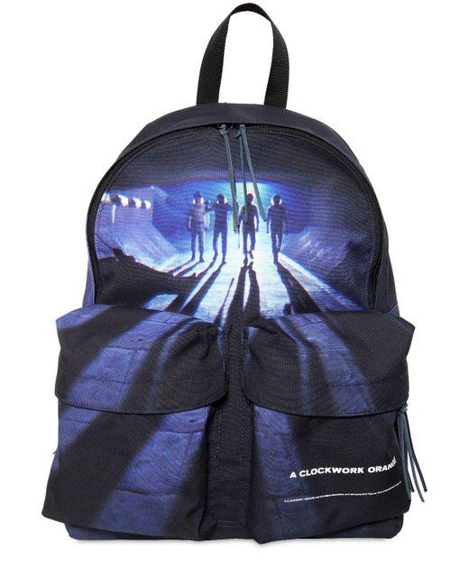 Рюкзак Из Канваса С Принтом Undercover для него, цвет: Blue