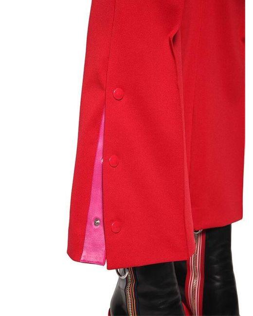 Marco De Vincenzo テクノジャージー クロップドパンツ Red