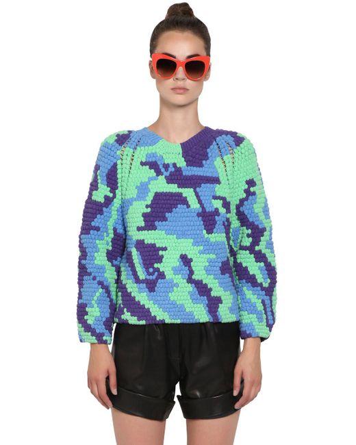 Helen Rodel | Green Hand Crocheted Cotton Sweater | Lyst