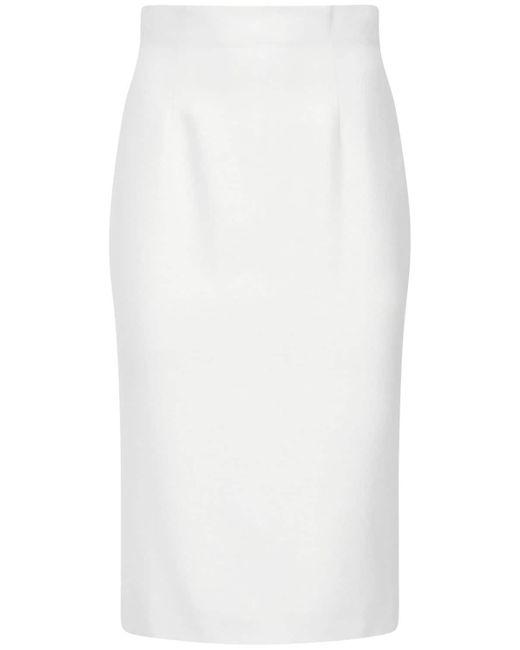 Юбка-карандаш Из Крепа Alexander McQueen, цвет: White