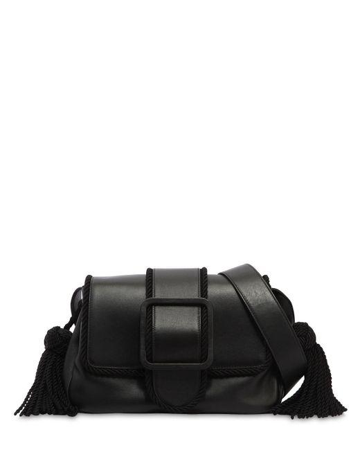 Marco De Vincenzo - Black Nappa Leather Shoulder Bag W/ Tassels - Lyst