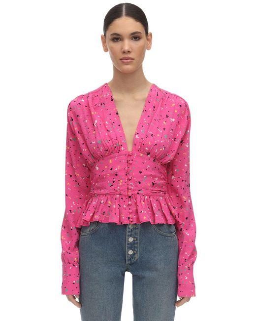 ROTATE BIRGER CHRISTENSEN サテンシャツ Pink