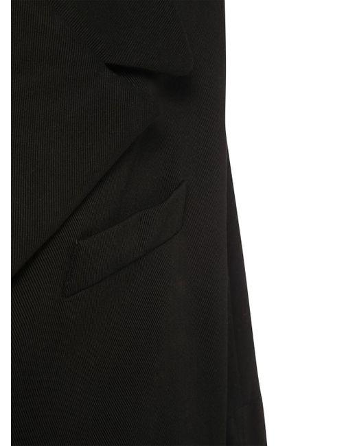 MM6 by Maison Martin Margiela オーバーサイズロゴコットンデニムジャケット Black