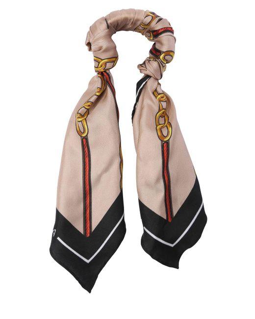 Balenciaga - Multicolor Chain Silk Twill Scarf Bracelet - Lyst