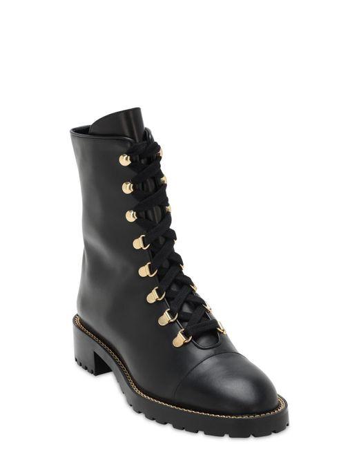 Ботинки Kolbie На Шнуровке Stuart Weitzman, цвет: Black