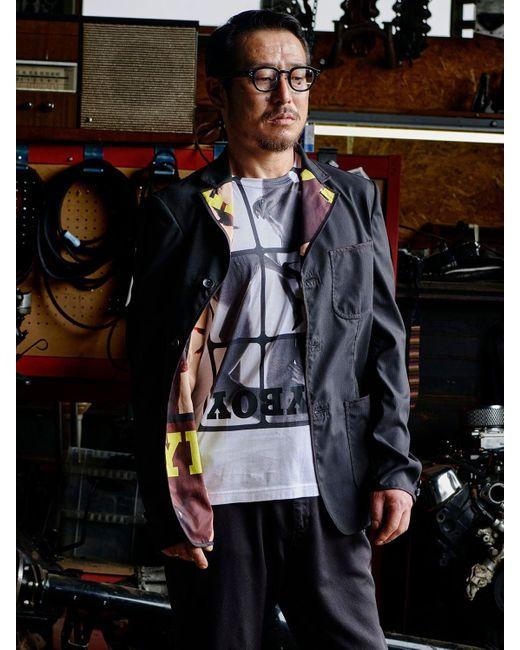 メンズ Junya Watanabe Playboy コットンジャージーtシャツ White