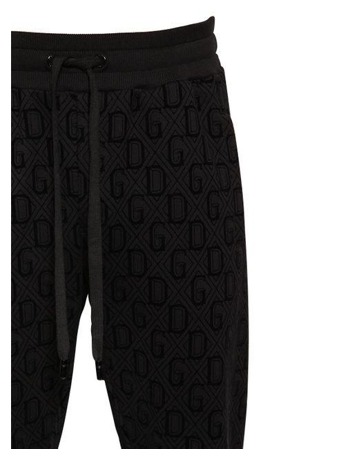 メンズ Dolce & Gabbana コットンブレンドトラックパンツ Black