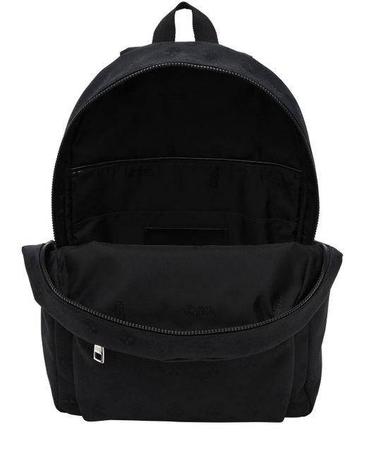 Рюкзак Из Нейлона С Принтом Alexander McQueen для него, цвет: Black