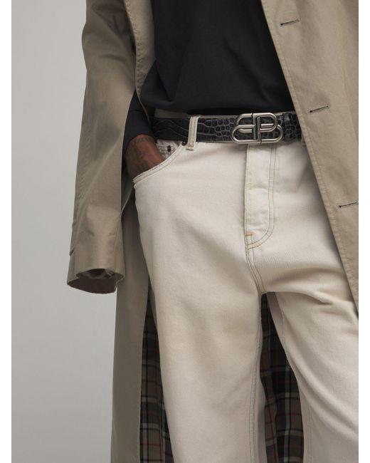 Кожаный Ремень С Логотипом И Тиснением Balenciaga для него, цвет: Black