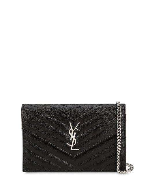 """Кожаный Кошелек """"sm Monogram"""" Saint Laurent, цвет: Black"""