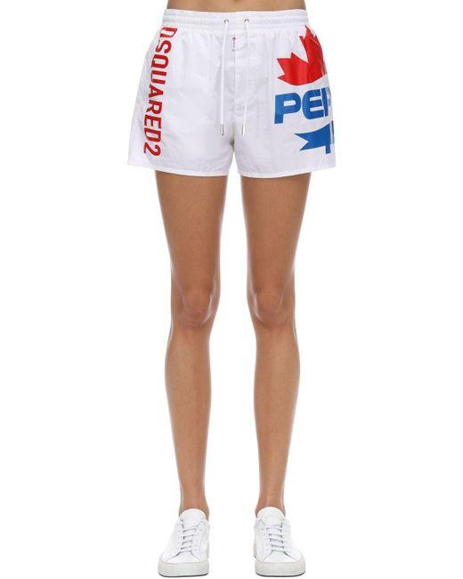 DSquared² Pepsi プリント水着 White