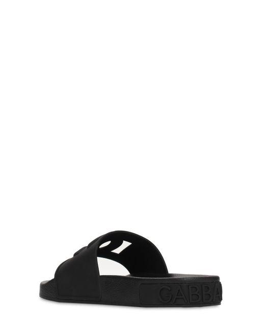 "Dolce & Gabbana Black 20mm Hohe Gummisandalen ""saint Barth"""