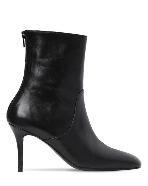 Dorateymur Black 85mm Leather Ankle Boots