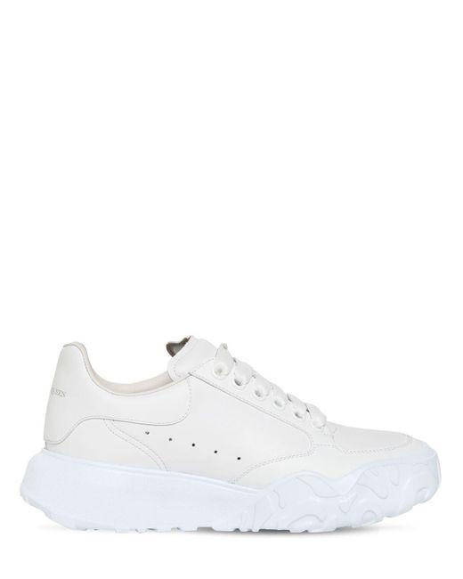 """Кожаные Кроссовки """"court Trainer"""" 45mm Alexander McQueen, цвет: White"""