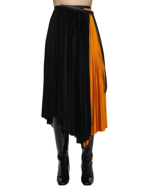 Юбка Асимметричного Кроя Со Сборками Proenza Schouler, цвет: Black