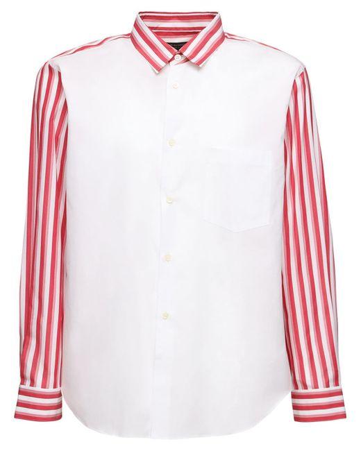 メンズ Comme des Garçons コットンポプリンシャツ Multicolor