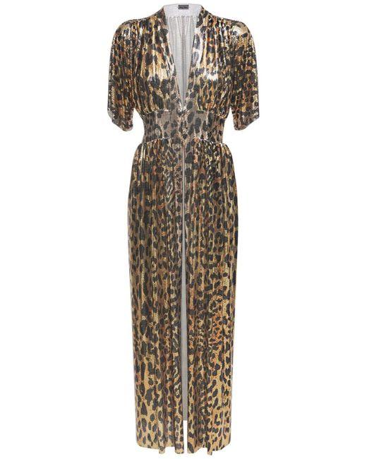 Paco Rabanne Leopard メタルメッシュドレス Multicolor