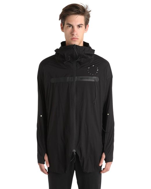 Asics | Black Woven Hooded Water Repellent Jacket for Men | Lyst