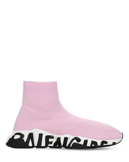Трикотажные Кроссовки Speed 30мм Balenciaga, цвет: Pink