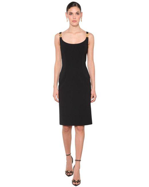 Платье medusa Из Джерси Versace, цвет: Black