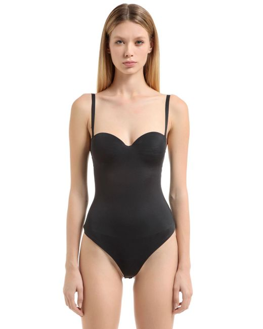 Wolford - Black Mat De Luxe Forming String Bodysuit - Lyst