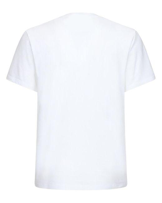 メンズ Moschino プリントコットンtシャツ White