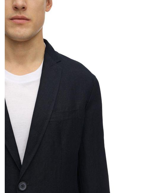 メンズ Armani Exchange リネン&ビスコースブレザー Blue
