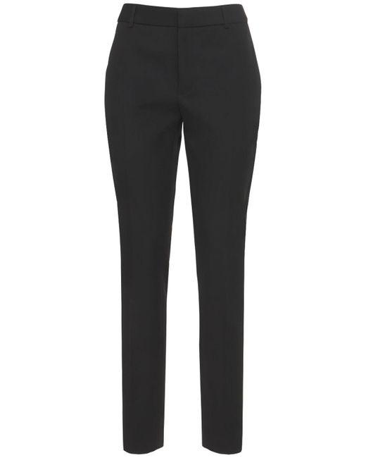 Брюки Из Шерсти Saint Laurent, цвет: Black