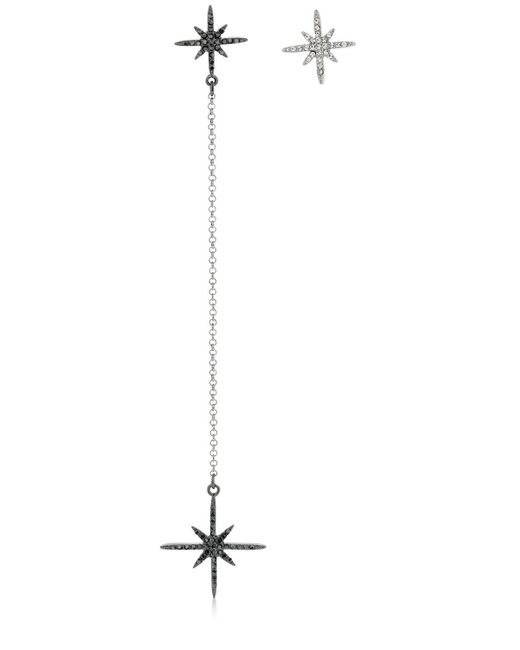 FEDERICA TOSI - Black Long Star Asymmetrical Earrings - Lyst