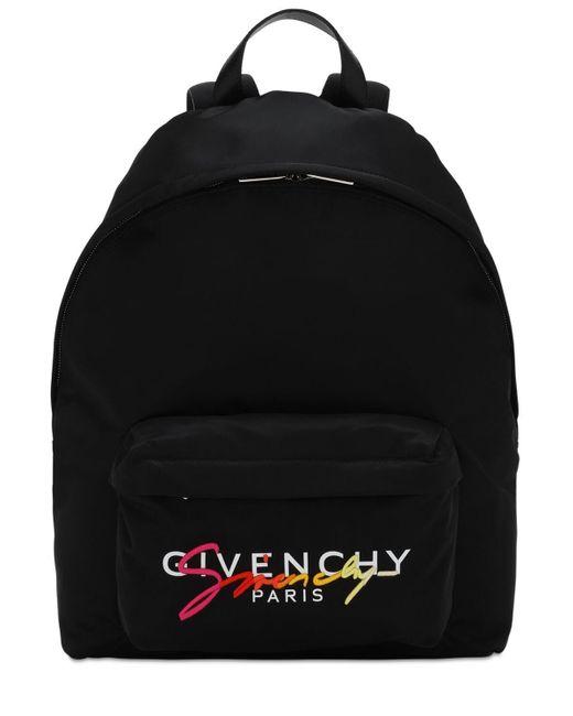 メンズ Givenchy Urban ナイロンバックパック Black