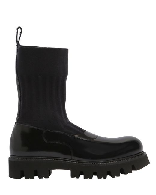 Rocco P - Black 30mm Elastic & Brushed Leather Boots - Lyst