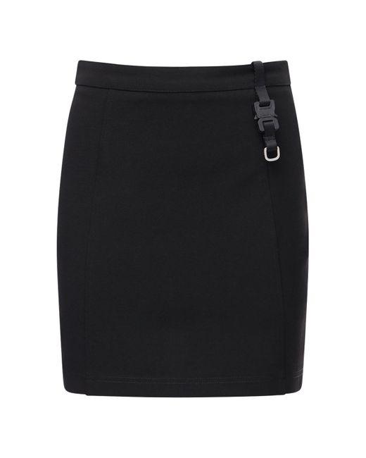 Мини-юбка Из Вискозного Джерси 1017 ALYX 9SM, цвет: Black