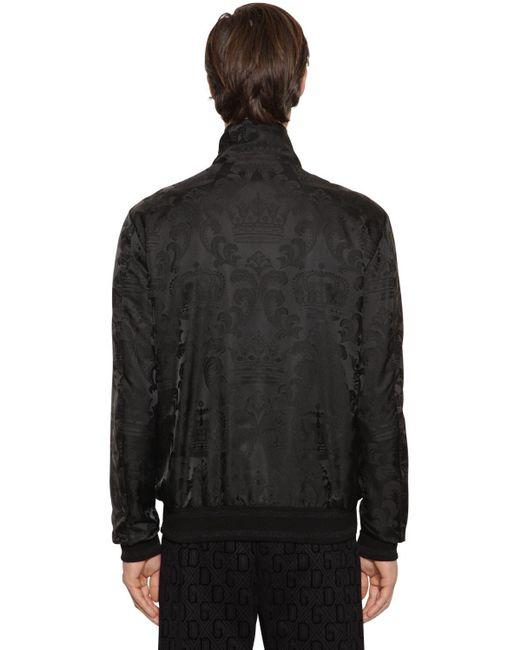 メンズ Dolce & Gabbana Corona テックボンバージャケット Black