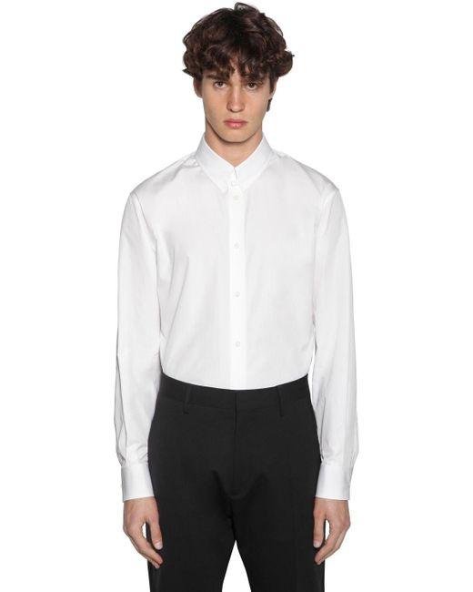 メンズ DSquared² コットンポプリンシャツ White