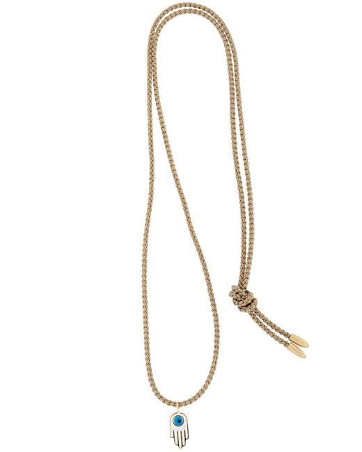 Luis Morais | Natural Gold Enameled Hamsa Necklace | Lyst