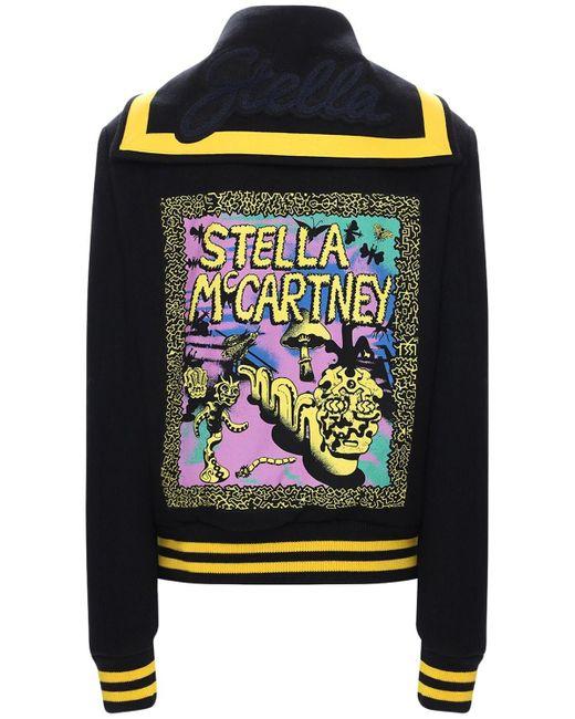 Stella McCartney ウールヴァーシティジャケット Black