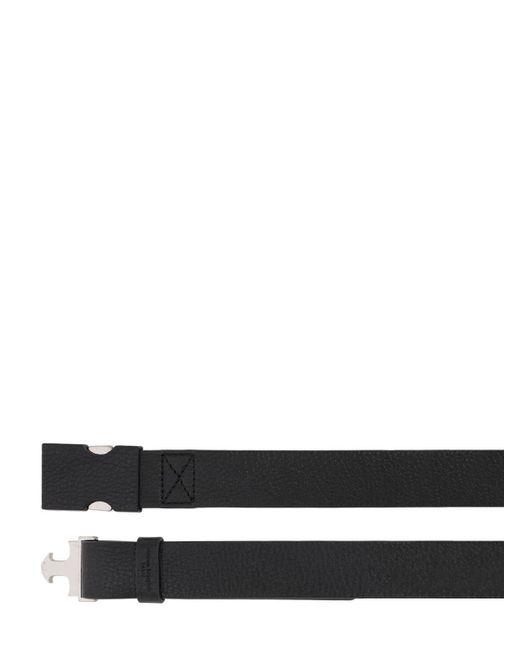 メンズ Maison Margiela レザーベルト 30mm Black