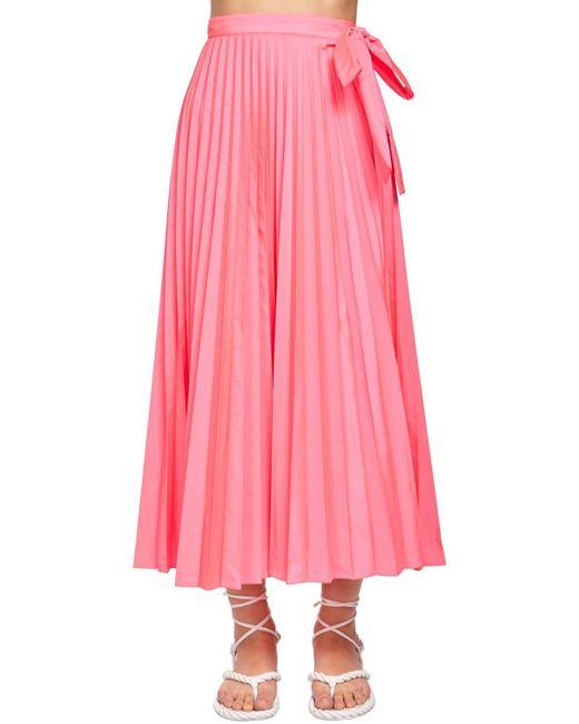 Юбка Миди Из Канваса Valentino, цвет: Pink