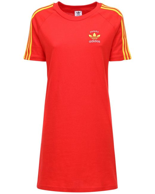 Adidas Originals 3-s Spain コットンtシャツウェア Red
