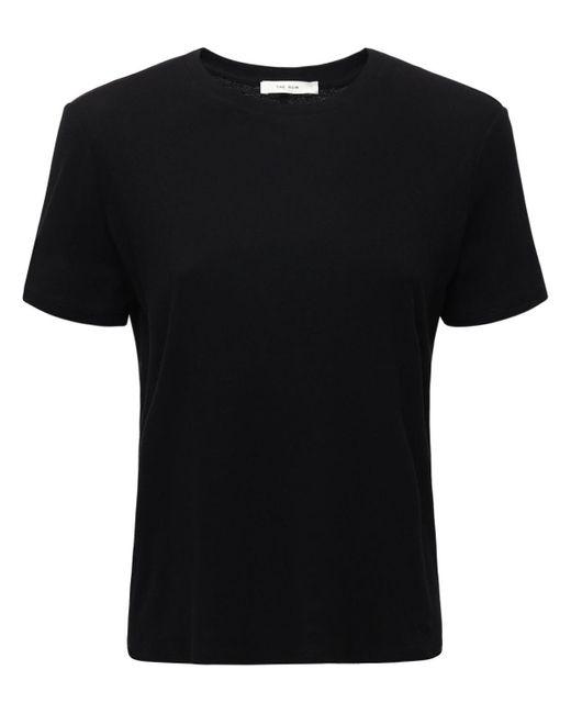 The Row コットン&カシミアジャージーtシャツ Black