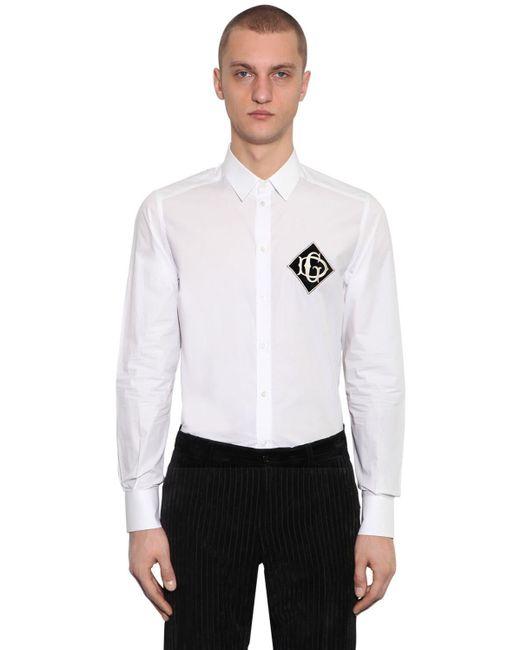 メンズ Dolce & Gabbana コットンシャツ White