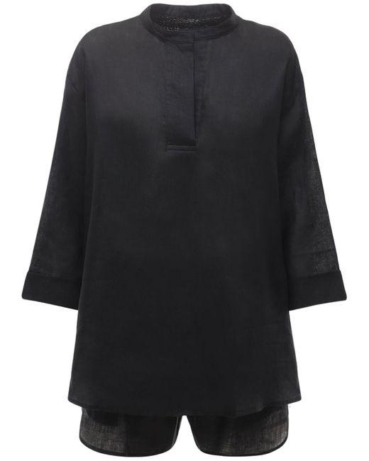 Пижамный Комплект Из Льна The Sleep Shirt, цвет: Black
