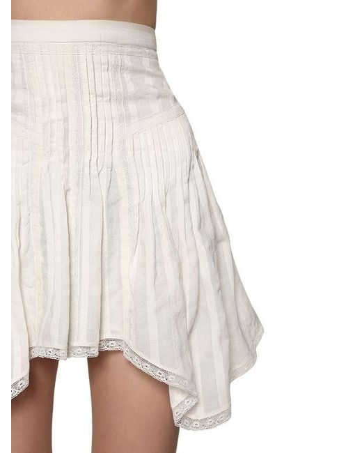 Étoile Isabel Marant コットン フリルミニスカート White