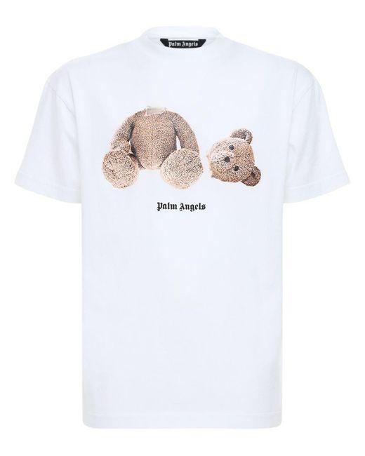 メンズ Palm Angels Bear コットンジャージーtシャツ White