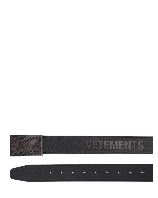 """Кожаный Ремень """"bouncer"""" Vetements, цвет: Black"""