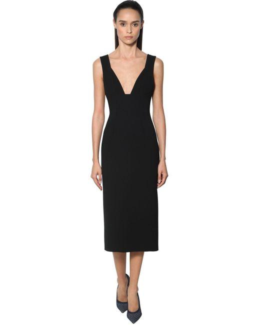 Victoria Beckham クレープドレス Black